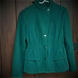 NY&Co Forest Green Wool Blend Coat